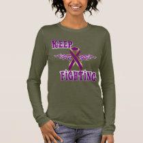 Keep Fighting Pancreatic Cancer Ladies Long Sleeve Long Sleeve T-Shirt