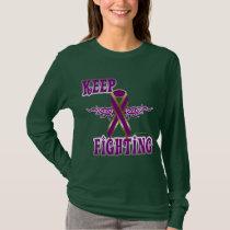 Keep Fighting Pancreatic Cancer Ladies Long Sleeve T-Shirt