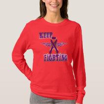 Keep Fighting Pancreatic Cancer Ladies Nano Long T-Shirt