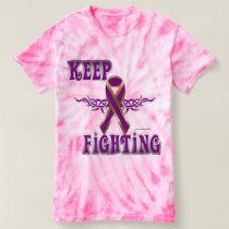 Keep Fighting Pancreatic Cancer Ladies Tie-Dye T T-shirt