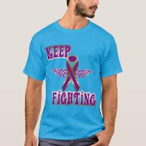 Keep Fighting Pancreatic Cancer Men's Dark Tee