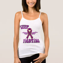 Keep Fighting Pancreatic Cancer Spaghetti Strap Tank Top