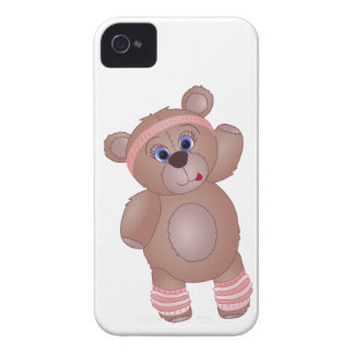 Keep Fit Aerobics Teddy Bear in Girly Pinks Blackberry Bold Cases