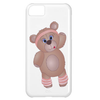 Keep Fit Aerobics Teddy Bear in Girly Pinks Case For iPhone 5C
