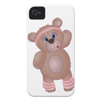 Keep Fit Aerobics Teddy Bear in Girly Pinks iPhone 4 Case