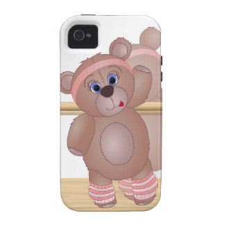 Keep Fit Aerobics Teddy Bear in Girly Pinks Case-Mate iPhone 4 Covers