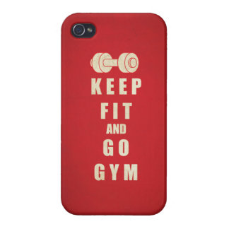 Keep Fit and Go GYM Quote iPhone 4 Cover