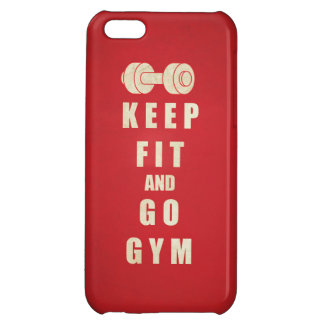 Keep Fit and Go GYM Quote iPhone 5C Cases