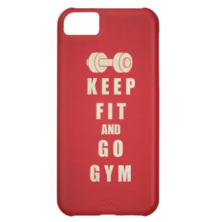 Keep Fit and Go GYM Quote iPhone 5C Cover