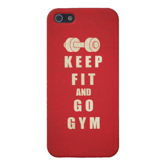 Keep Fit and Go GYM Quote iPhone SE/5/5s Case