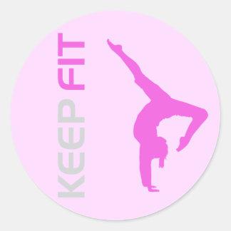 Keep Fit Classic Round Sticker