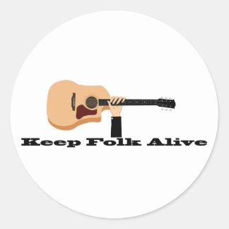 Keep Folk Alive Sticker
