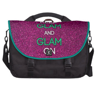 Keep Glam and Glam On Laptop Bags