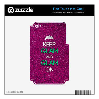 Keep Glam and Glam On Decals For iPod Touch 4G