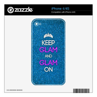 Keep Glam and Glam On iPhone 4S Decals