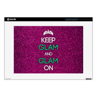 Keep Glam and Glam On Laptop Skin