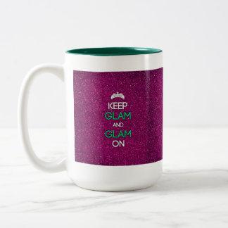 Keep Glam and Glam On Two-Tone Coffee Mug