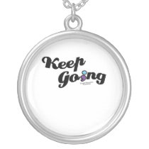 Keep Going Awareness And Suicide Prevention Silver Plated Necklace