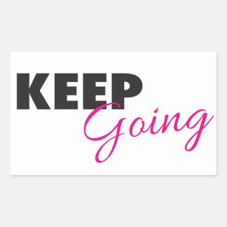 Keep Going - Inspirational Workout Saying Rectangular Sticker