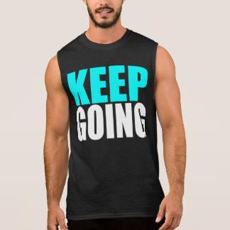 KEEP GOING SLEEVELESS SHIRT