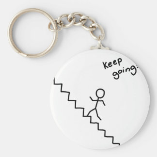 """Keep going"" stick man on the stairs keychain"