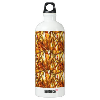 Keep Gold Energy Close : Wired Basket Weave Strand Aluminum Water Bottle