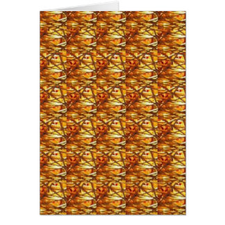Keep Gold Energy Close : Wired Basket Weave Strand Card