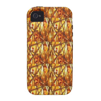 Keep Gold Energy Close : Wired Basket Weave Strand iPhone 4/4S Covers
