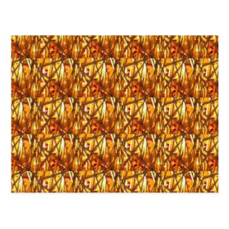 Keep Gold Energy Close : Wired Basket Weave Strand Postcard