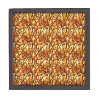 Keep Gold Energy Close : Wired Basket Weave Strand Premium Keepsake Box
