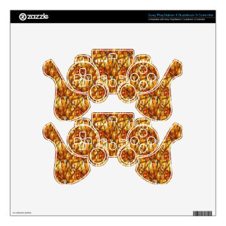 Keep Gold Energy Close : Wired Basket Weave Strand PS3 Controller Decal