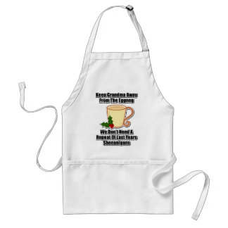Keep Grandma Away From The Eggnog Adult Apron