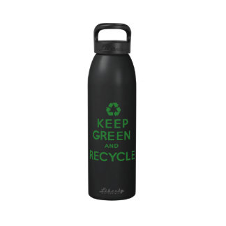 Keep Green and Recycle Water Bottle