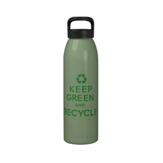 Keep Green and Recycle Water Bottles