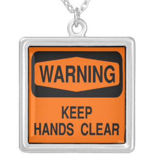 keep hands clear silver plated necklace