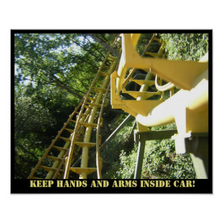 Keep hands in coaster poster