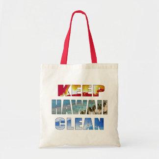 """""""Keep Hawaii Clean"""" Hawaiian Tote Canvas Bags"""