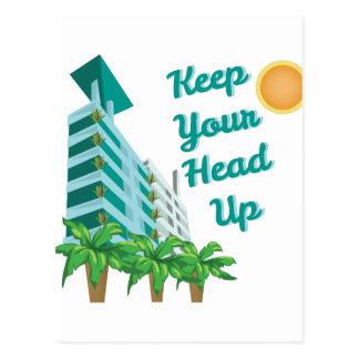 Keep Head Up Postcard