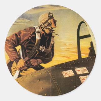 Keep Him Flying Stickers - Vintage War Poster
