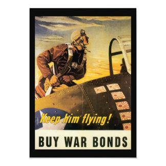 Keep Him Flying World War II Card