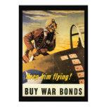 Keep Him Flying World War II 5x7 Paper Invitation Card