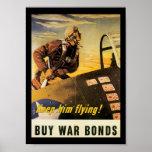 Keep Him Flying World War II Poster