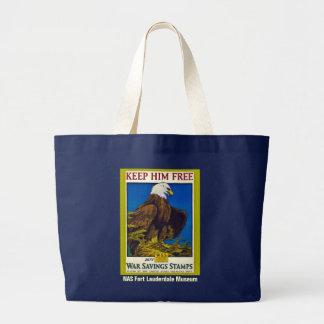 Keep Him Free Large Tote Bag
