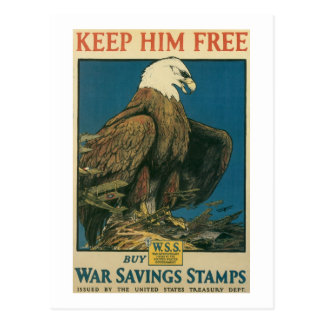 Keep Him Free Postcard