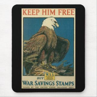 Keep Him Free World War II Mouse Pad