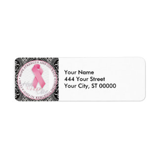 keep hope alive pink ribbon breast cancer label