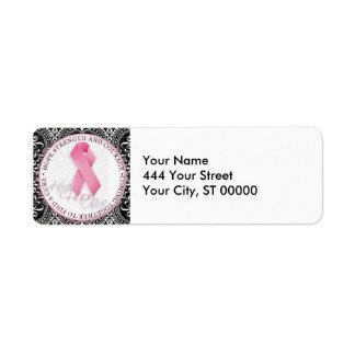 keep hope alive pink ribbon breast cancer label