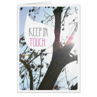 Keep in touch modern photo card