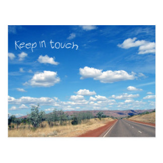Keep In Touch Open Road Stamp Postcard