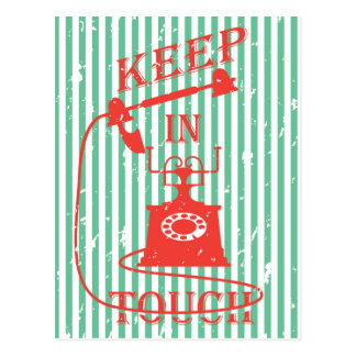 Keep in touch quote postcard